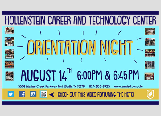 HCTC Fall Orientation Night- Aug 14, 2018 at 6 0r 645